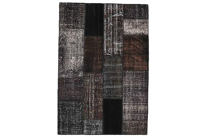 AGADIR Patchworkmatta 142x206 Modern Brun - Inomhus - Mattor - Patchwork mattor