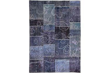 AGADIR Patchworkmatta 152x220 Modern Blå