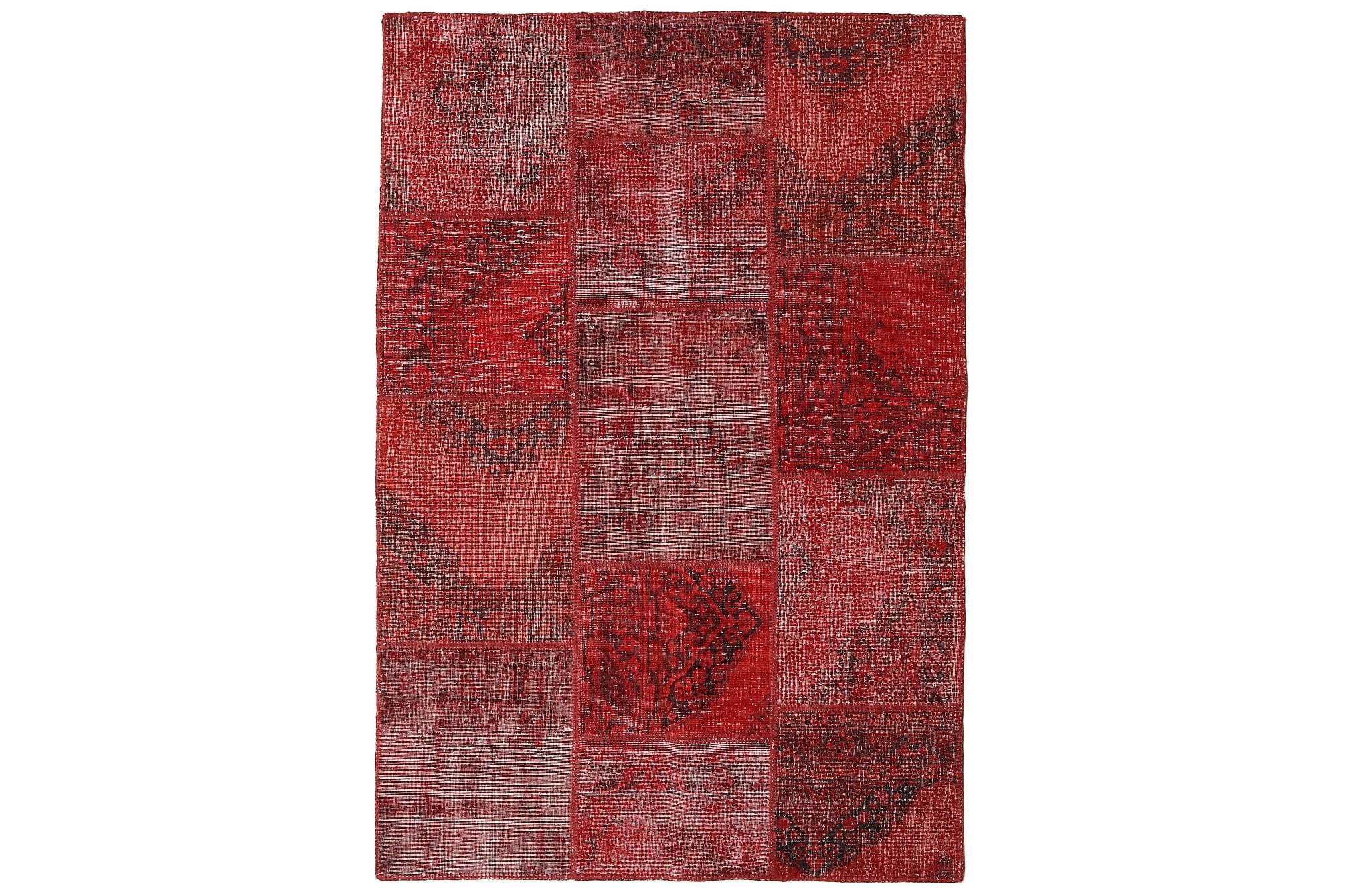 AGADIR Patchworkmatta 156x231 Modern Röd, Patchwork mattor