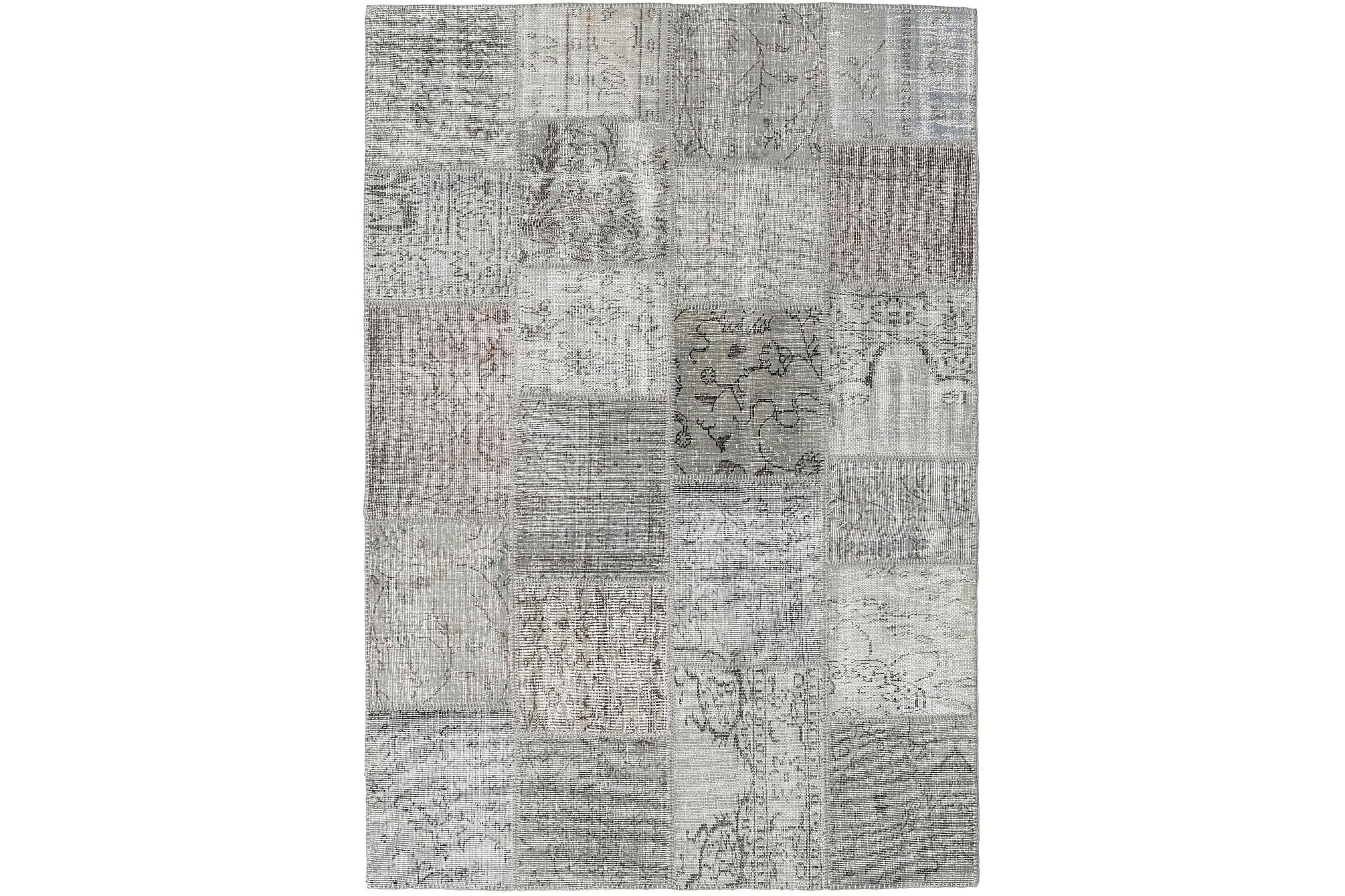 AGADIR Patchworkmatta 157x227 Modern Grå, Patchwork mattor