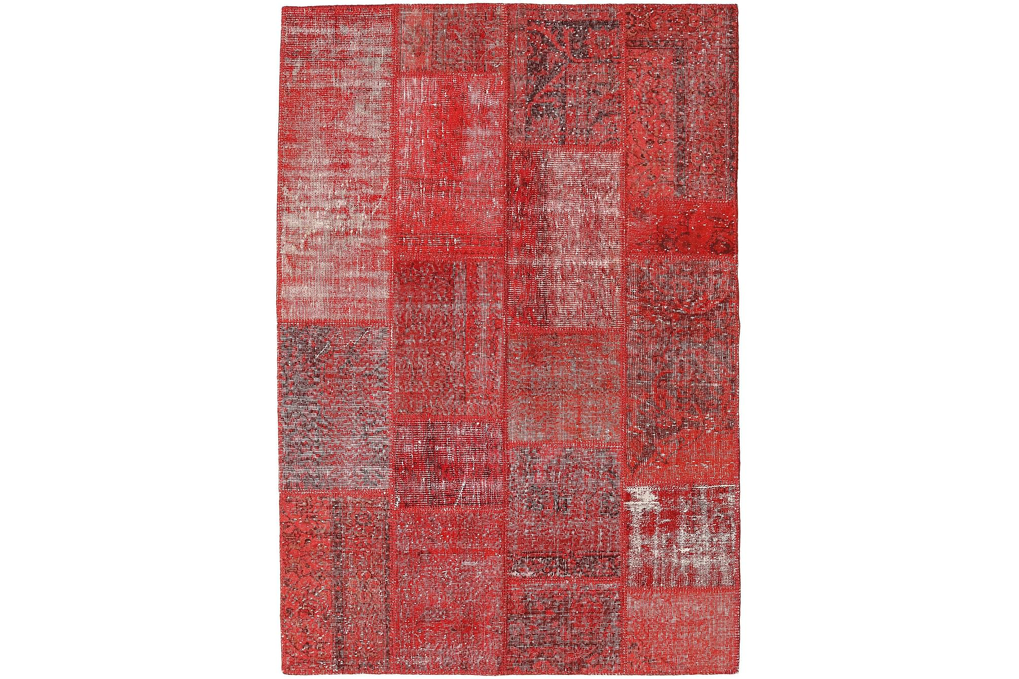AGADIR Patchworkmatta 158×230 Modern Röd