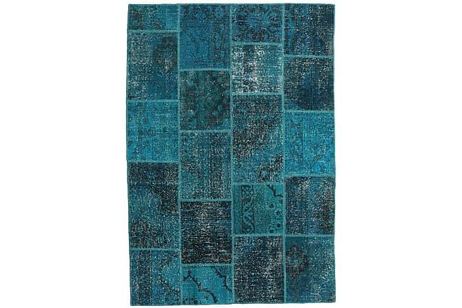 AGADIR Patchworkmatta 158x232 Modern Blå - Inomhus - Mattor - Patchwork mattor