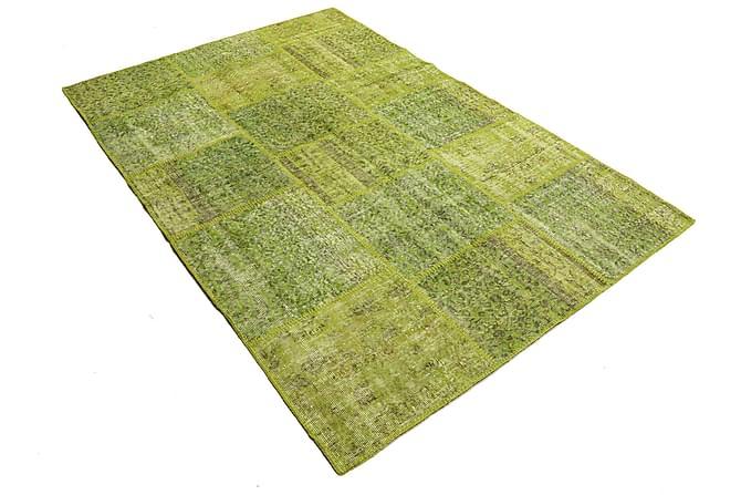 AGADIR Patchworkmatta 158x234 Modern Grön - Inomhus - Mattor - Patchwork mattor