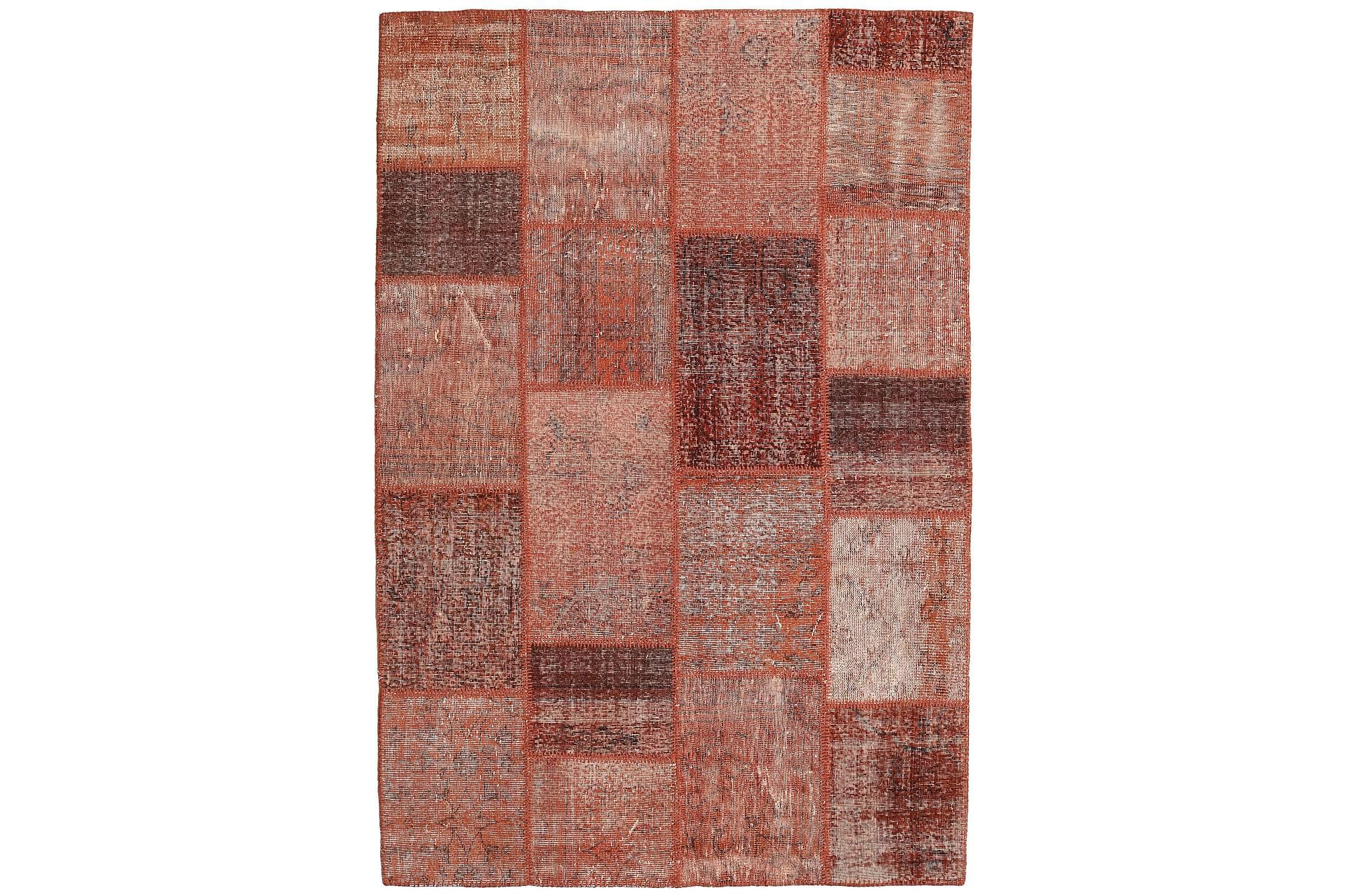 AGADIR Patchworkmatta 158x234 Modern Röd, Patchwork mattor