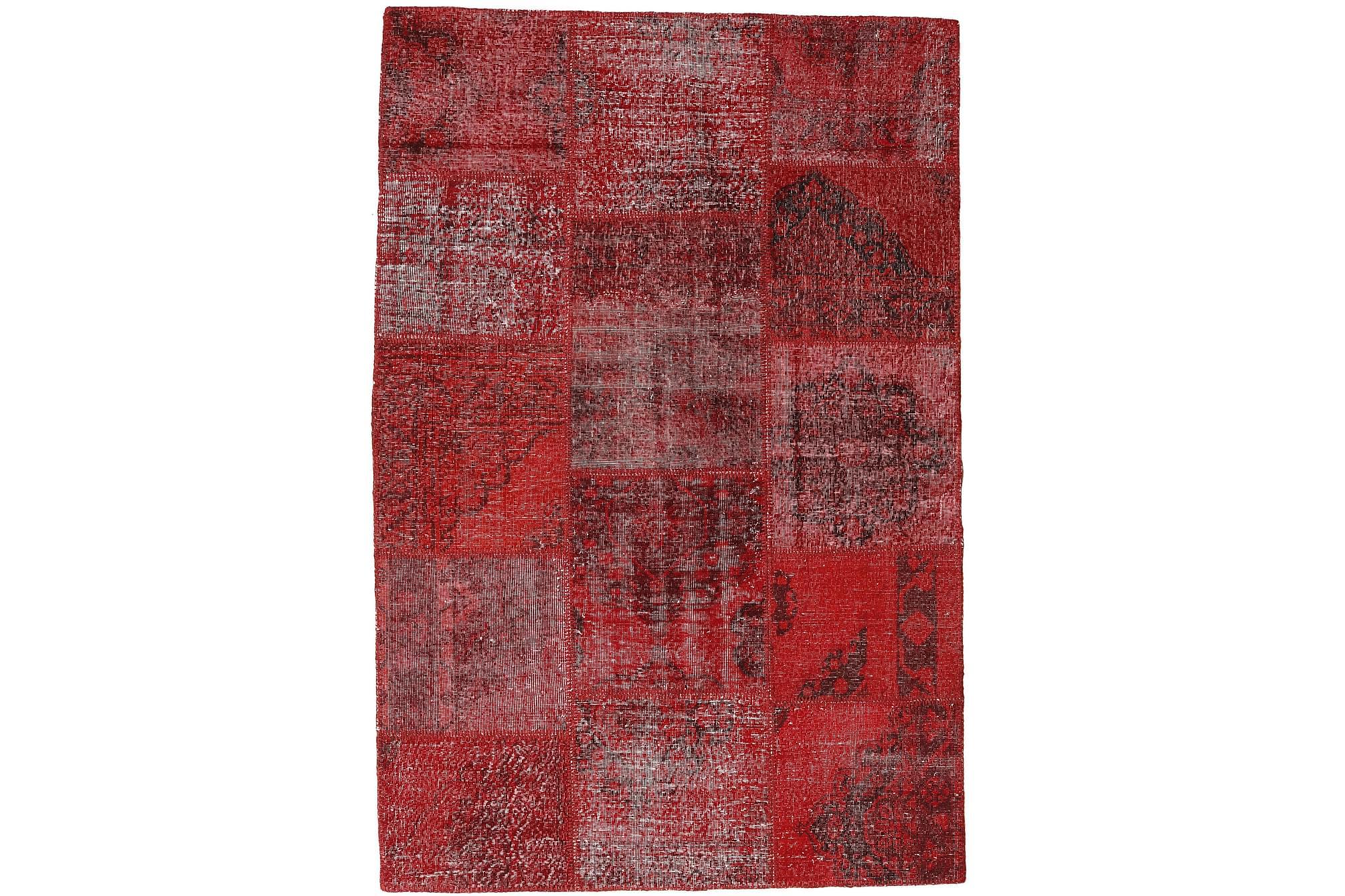 AGADIR Patchworkmatta 158x235 Modern Röd, Patchwork mattor