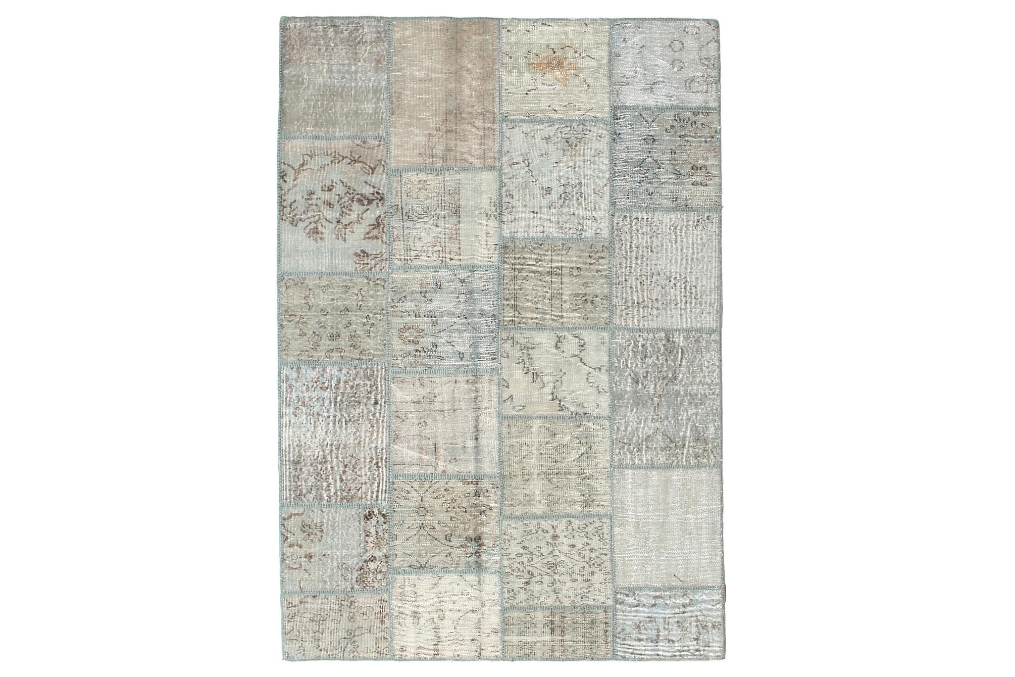 AGADIR Patchworkmatta 159×231 Modern Beige/Grå