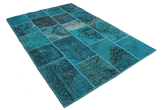 AGADIR Patchworkmatta 159x231 Modern Blå - Möbler & Inredning - Mattor - Patchwork mattor