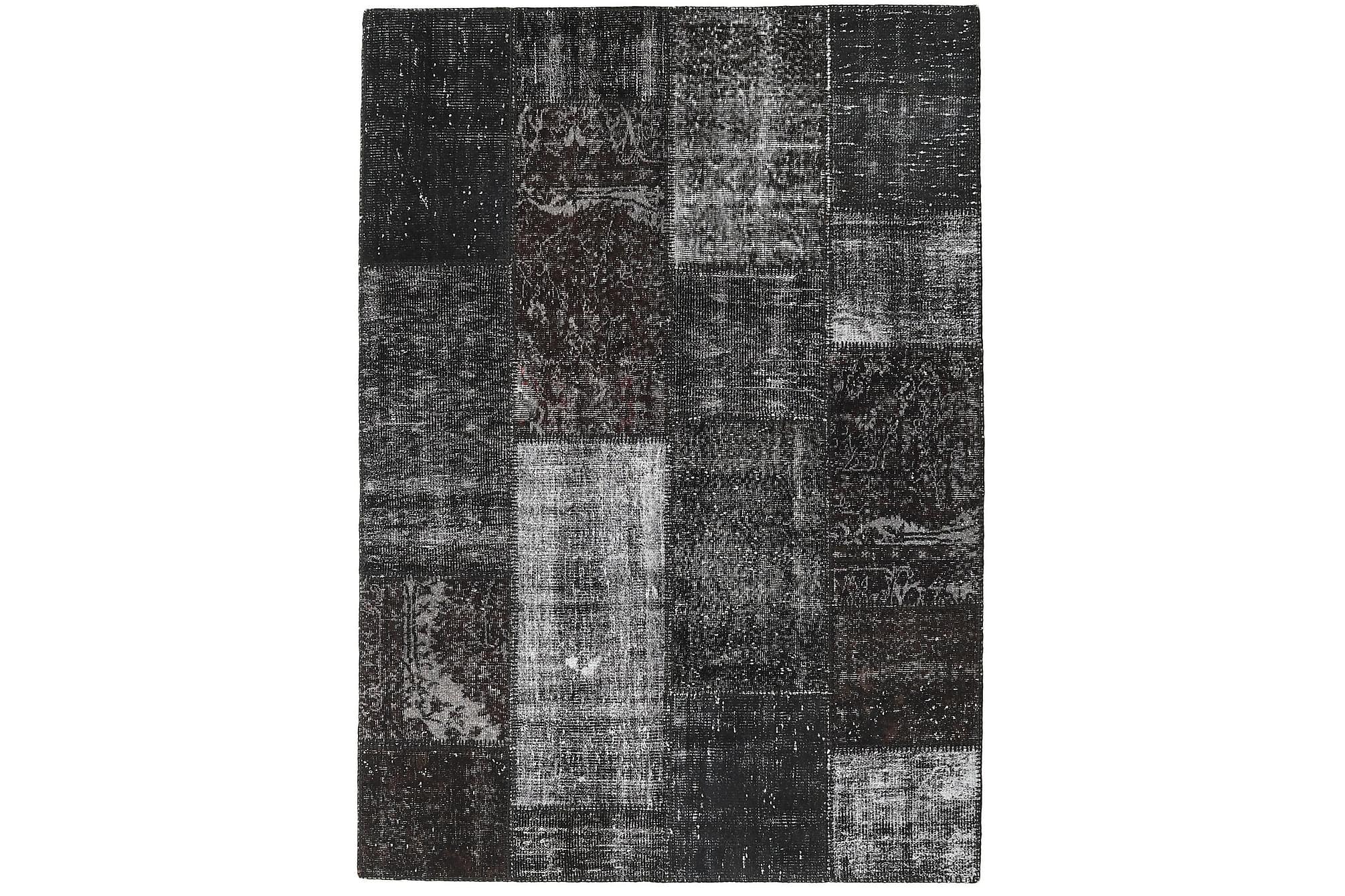 AGADIR Patchworkmatta 161×227 Stor Modern Grå