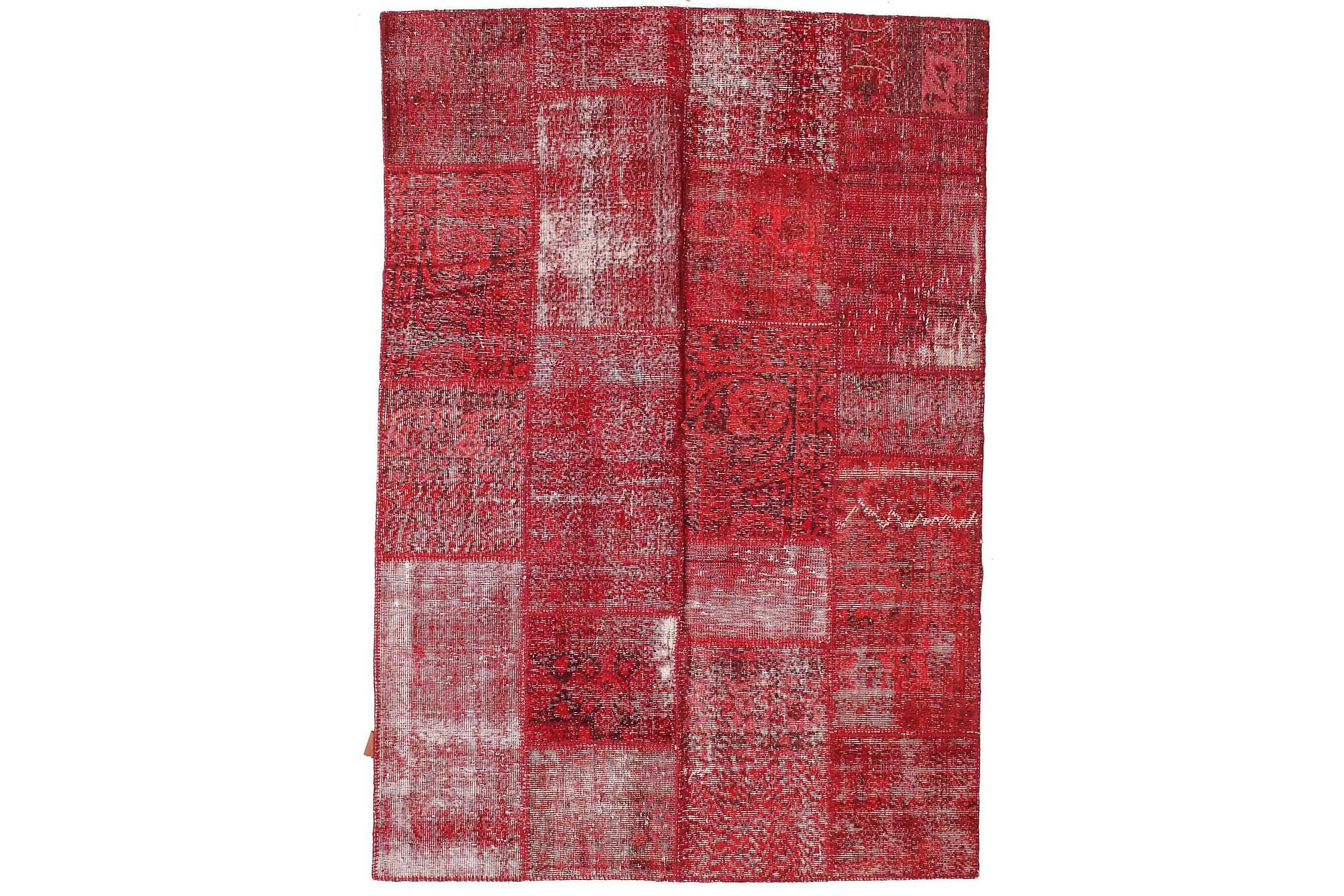 AGADIR Patchworkmatta 161x233 Stor Modern Röd, Patchwork mattor