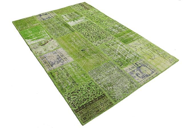 AGADIR Patchworkmatta 161x234 Stor Modern Grön - Inomhus - Mattor - Patchwork mattor