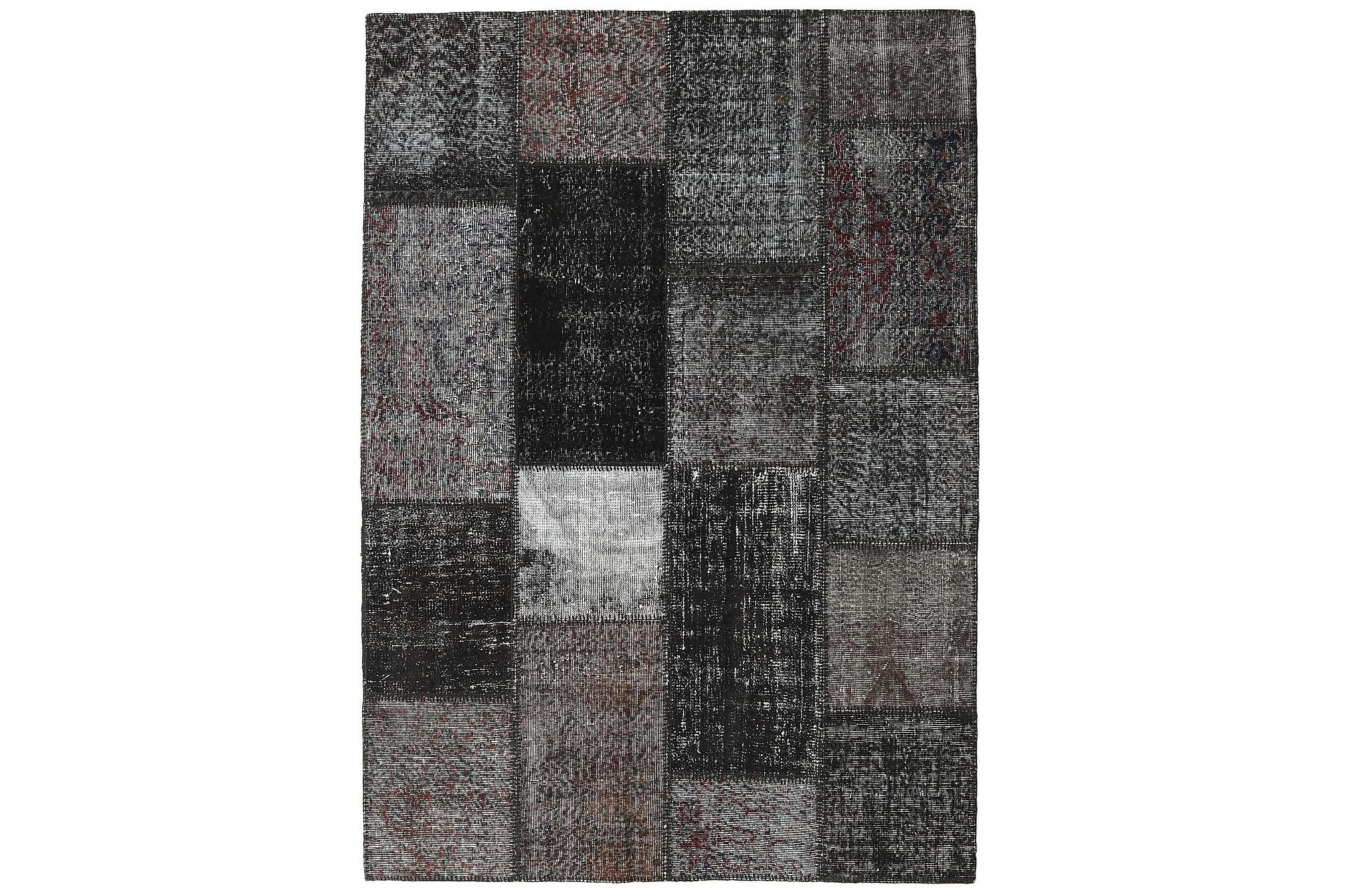 AGADIR Patchworkmatta 162×230 Stor Modern Grå