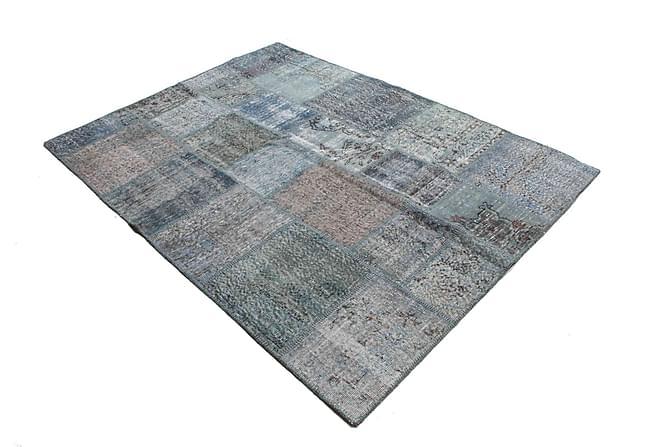 AGADIR Patchworkmatta 171x230 Stor Modern Blå/Grå - Inomhus - Mattor - Patchwork mattor