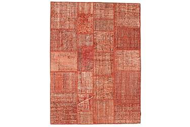 AGADIR Patchworkmatta 171x232 Stor Modern Röd