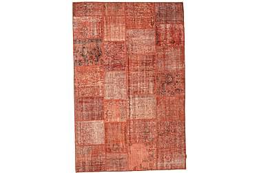 AGADIR Patchworkmatta 196x300 Stor Modern Röd