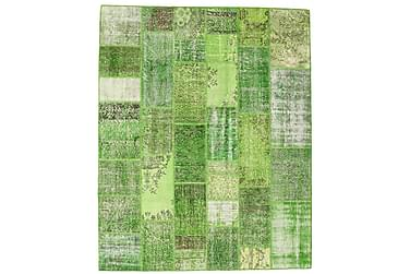 AGADIR Patchworkmatta 201x250 Stor Modern Grön