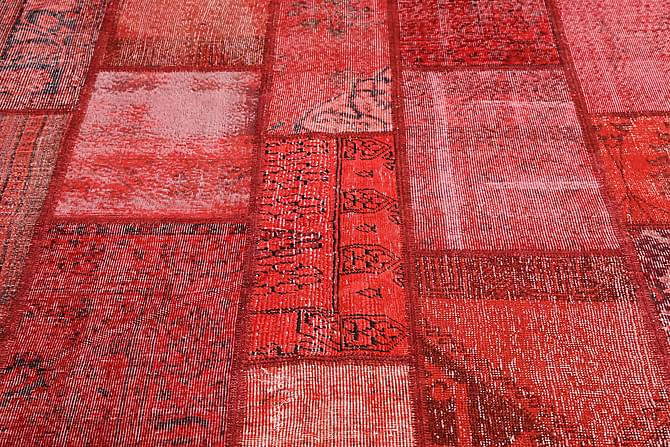 AGADIR Patchworkmatta 201x300 Stor Modern Röd - Möbler & Inredning - Mattor - Patchwork mattor