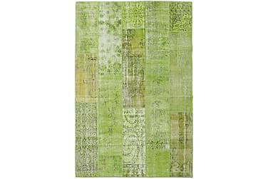 AGADIR Patchworkmatta 201x302 Stor Modern Grön