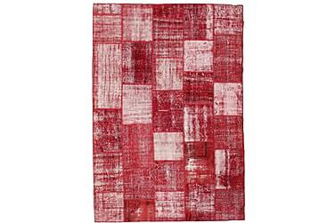AGADIR Patchworkmatta 202x294 Stor Modern Röd