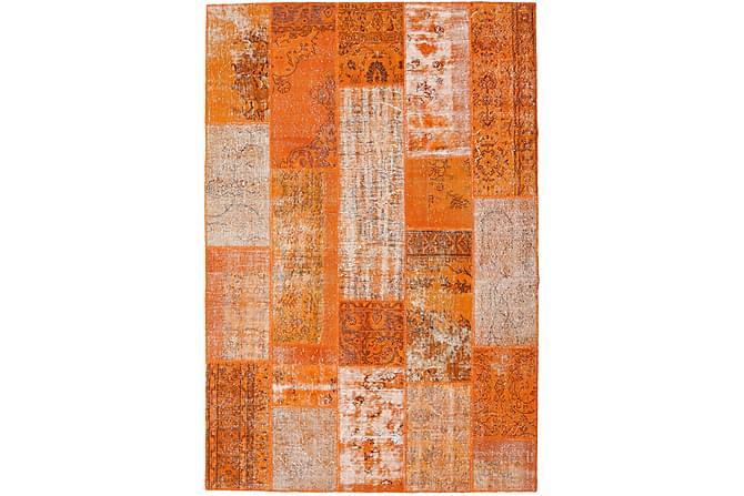 AGADIR Patchworkmatta 202x299 Stor Modern Orange - Inomhus - Mattor - Patchwork mattor