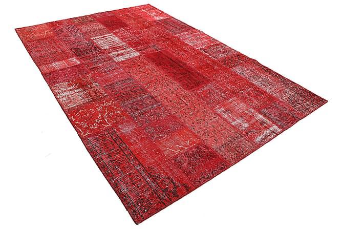 AGADIR Patchworkmatta 202x300 Stor Modern Röd - Möbler & Inredning - Mattor - Patchwork mattor