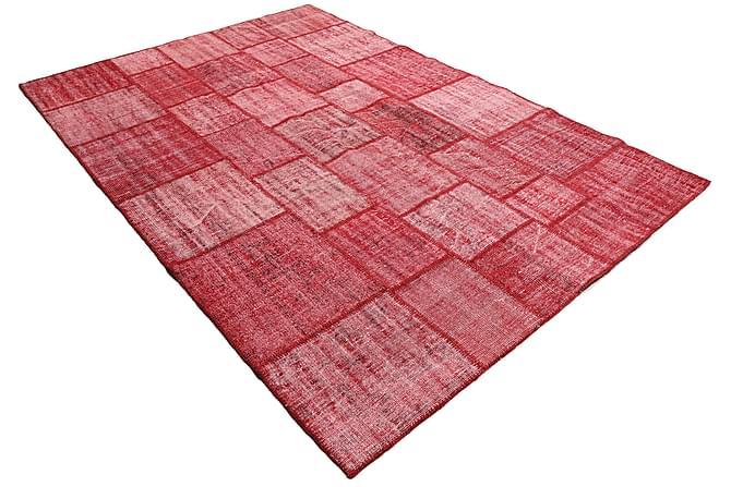 AGADIR Patchworkmatta 206x305 Stor Modern Röd - Möbler & Inredning - Mattor - Patchwork mattor