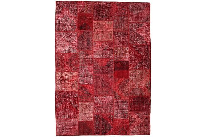 AGADIR Patchworkmatta 247x350 Stor Modern Röd - Inomhus - Mattor - Patchwork mattor