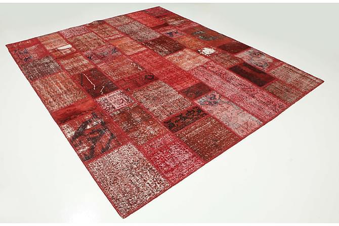 AGADIR Patchworkmatta 251x302 Stor Modern Röd - Inomhus - Mattor - Patchwork mattor