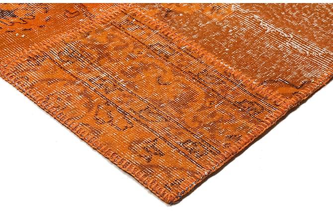AGADIR Patchworkmatta 253x299 Stor Modern Orange - Möbler & Inredning - Mattor - Patchwork mattor