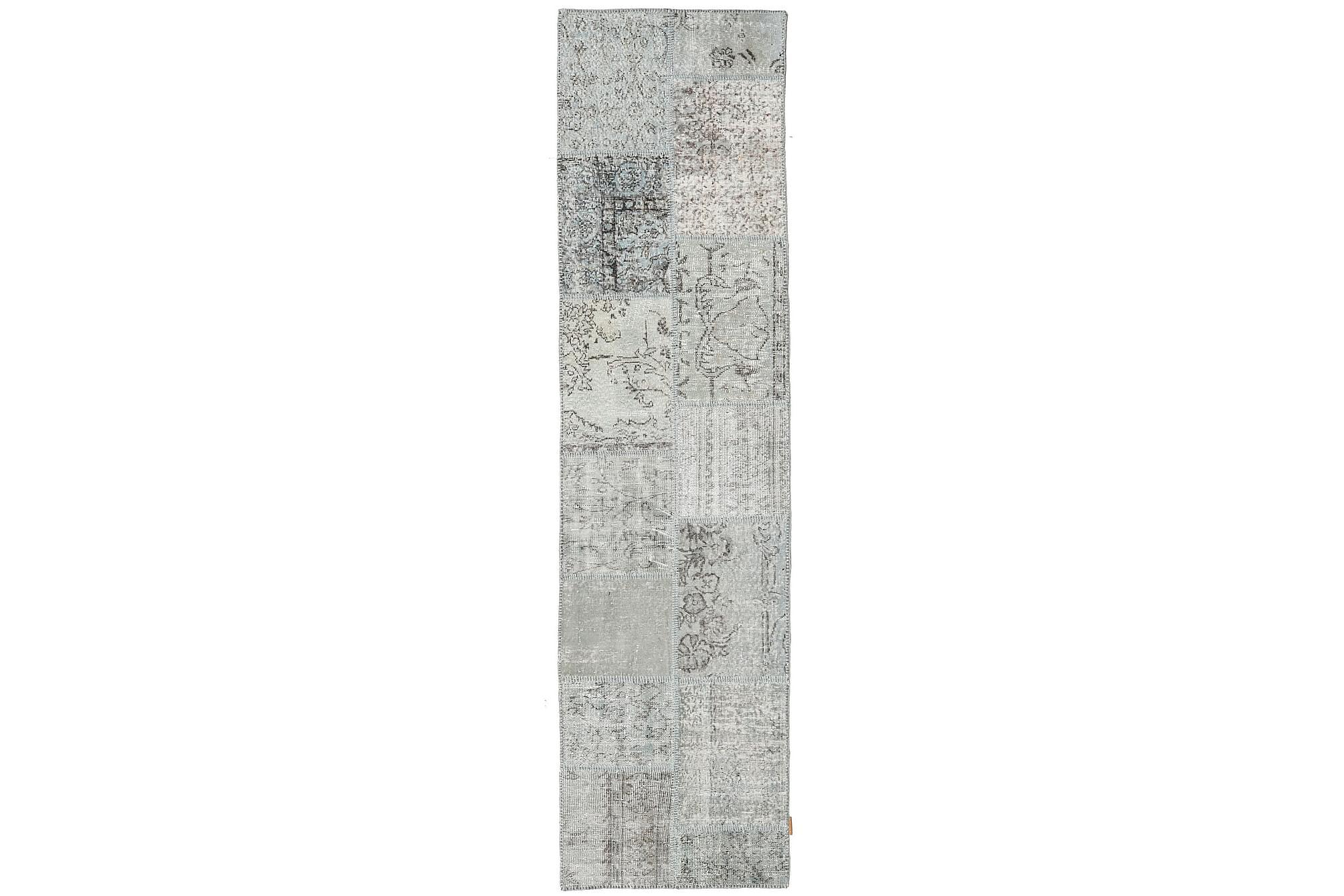 AGADIR Patchworkmatta 78×304 Stor Modern Grå