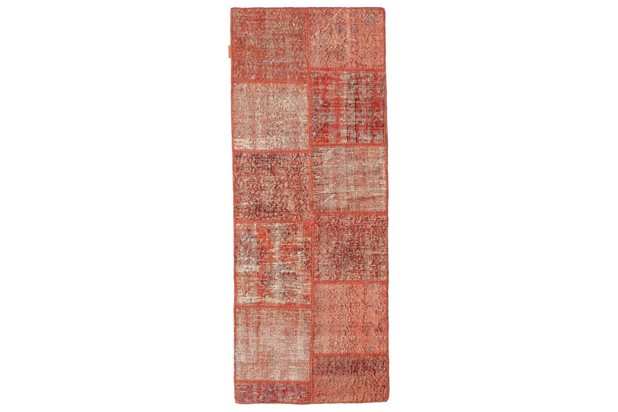 AGADIR Patchworkmatta 79×202 Stor Modern Röd