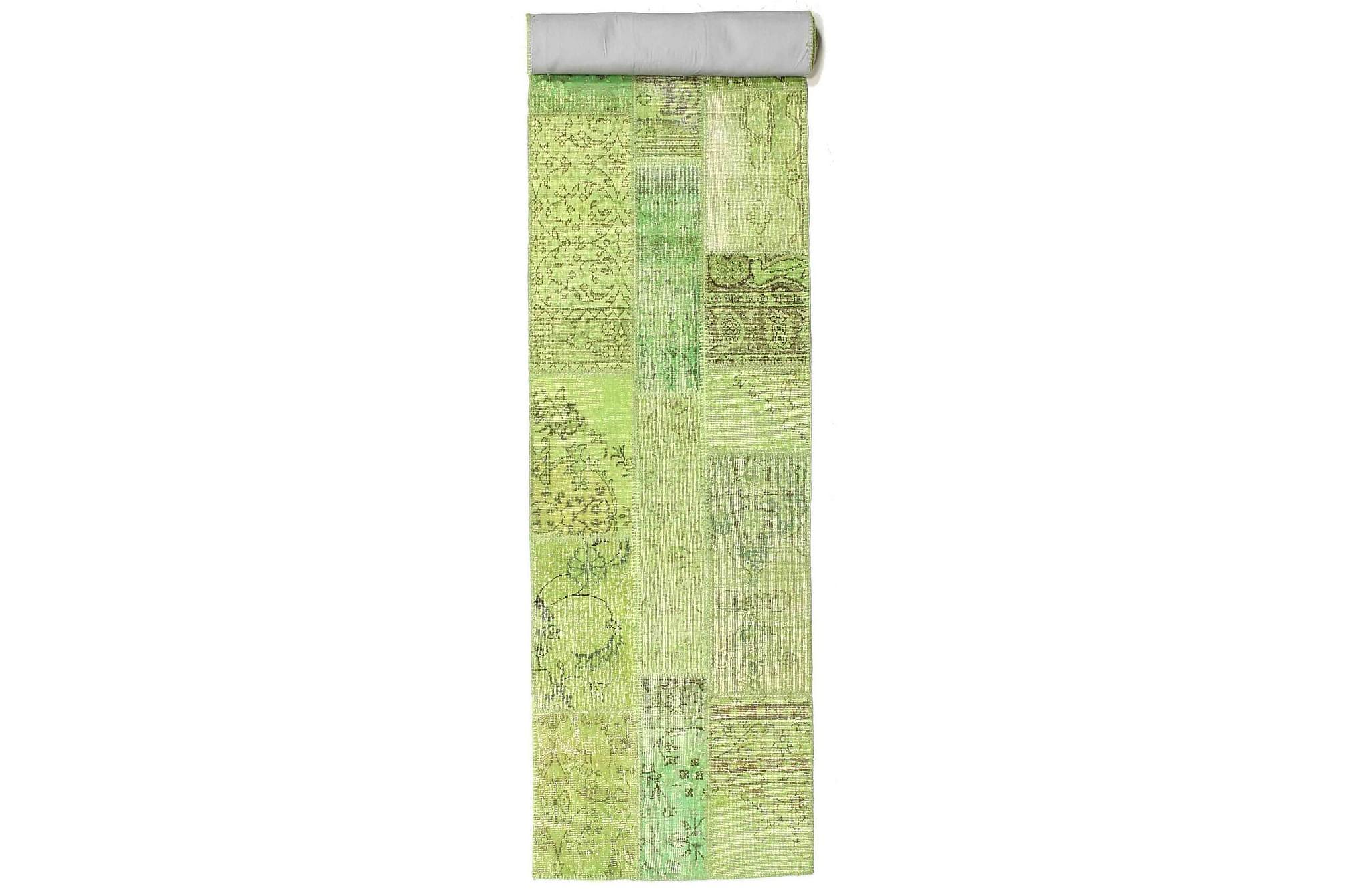 AGADIR Patchworkmatta 81×504 Stor Modern Grön