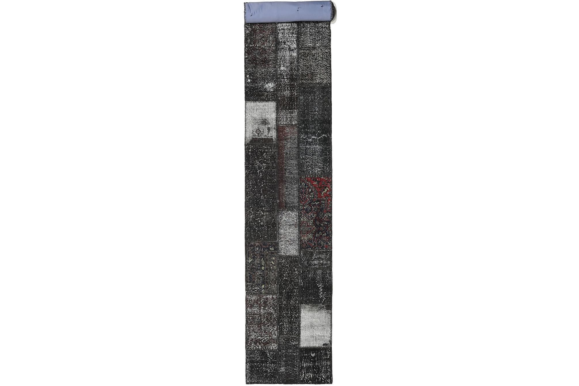AGADIR Patchworkmatta 81×606 Stor Modern Grå