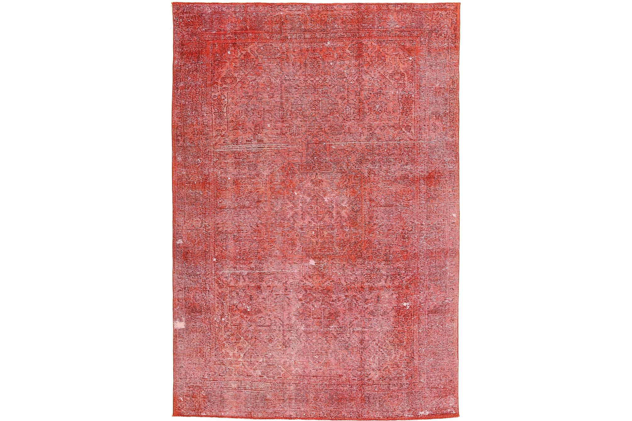 COLORED VINTAGE Patchworkmatta 200×285 Stor Röd