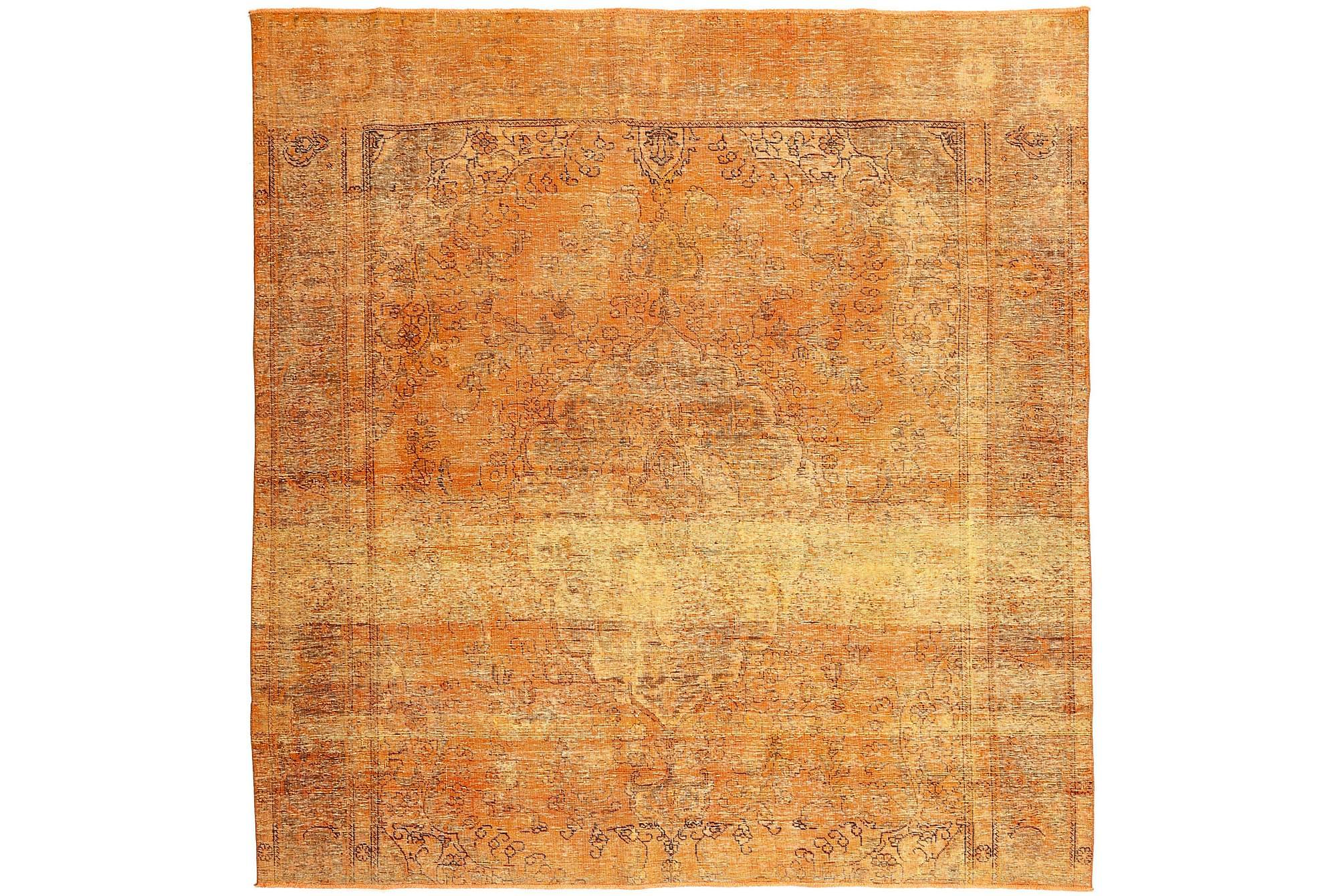 COLORED VINTAGE Patchworkmatta 285×290 Stor Orange