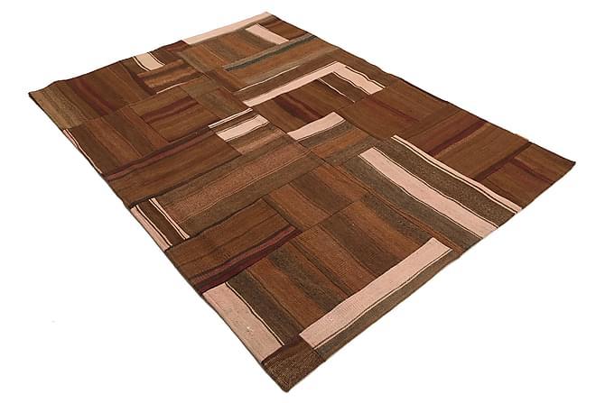 KELIM Patchworkmatta 145x200 Persisk Brun - Inomhus - Mattor - Patchwork mattor