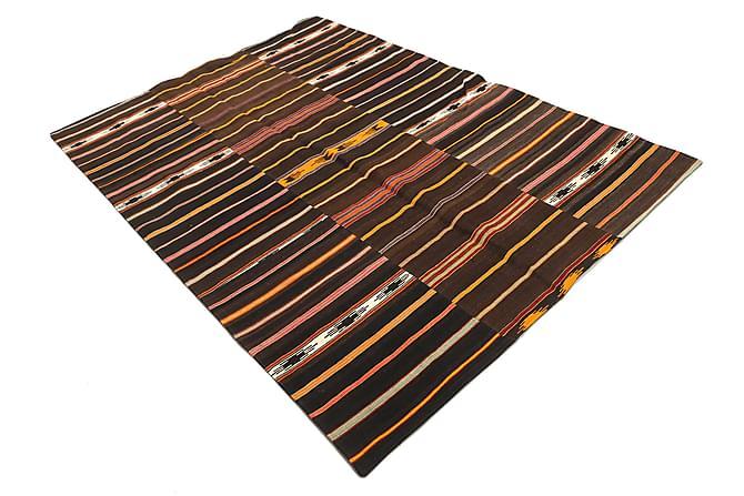 KELIM Patchworkmatta 160x230 Stor Brun - Möbler & Inredning - Mattor - Patchwork mattor