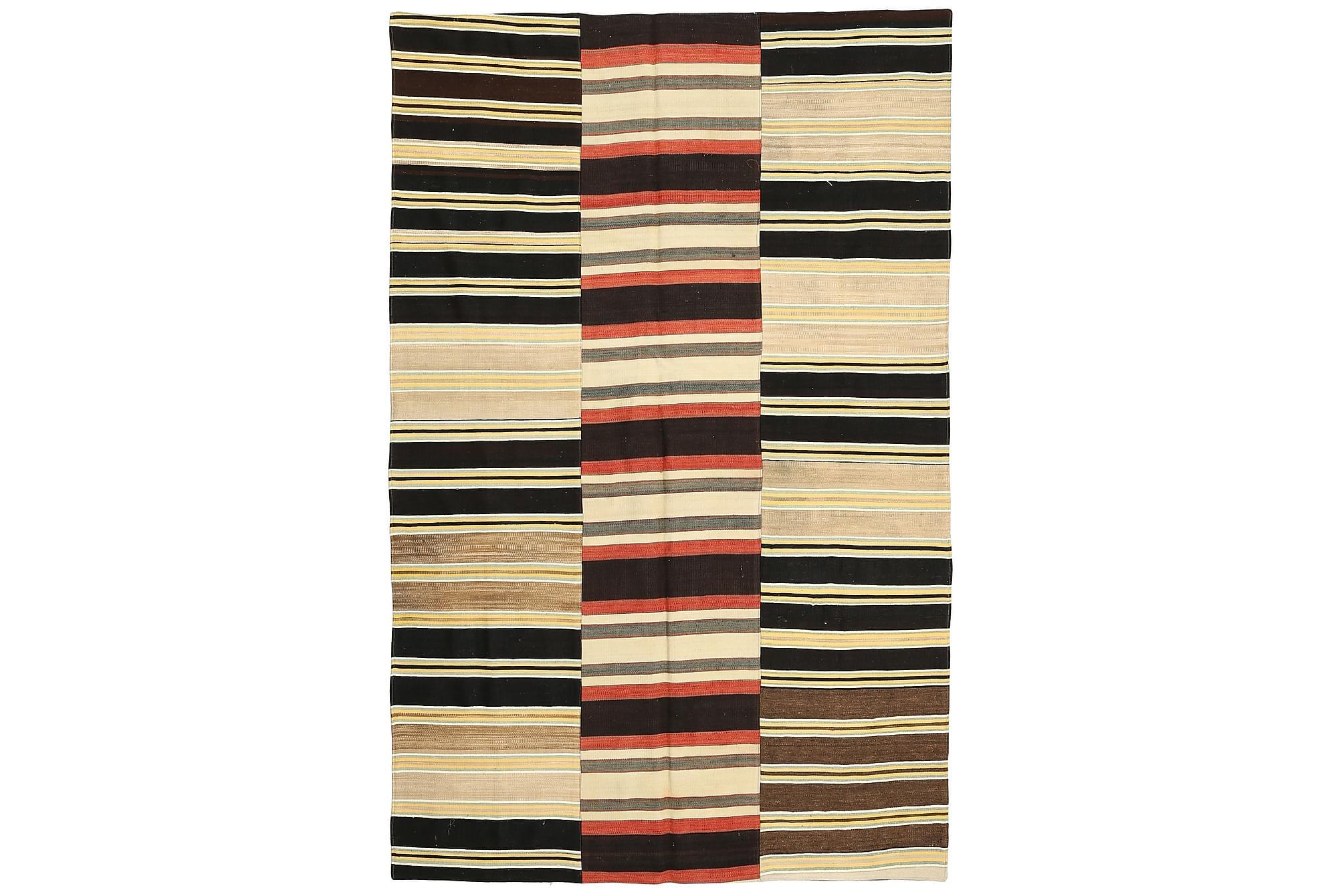 KELIM Patchworkmatta 184×292 Stor Flerfärgad