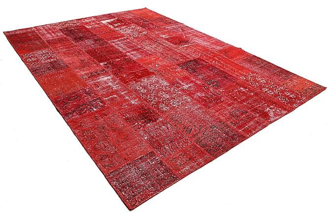 Stor Patchworkmatta Modern 251x349 - Röd - Inomhus - Mattor - Patchwork mattor