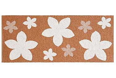 FLOWER Plastmatta 70x50 Vändbar PVC Rost