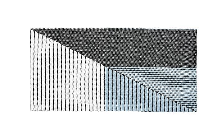 STRIPE Plastmatta 150x210 Vändbar PVC Svart/Blå - Inomhus - Mattor - Plastmattor