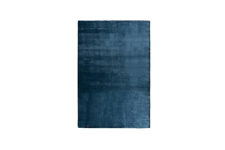SATINE Matta 160x230 cm Blå - Möbler & Inredning - Mattor - Ryamattor