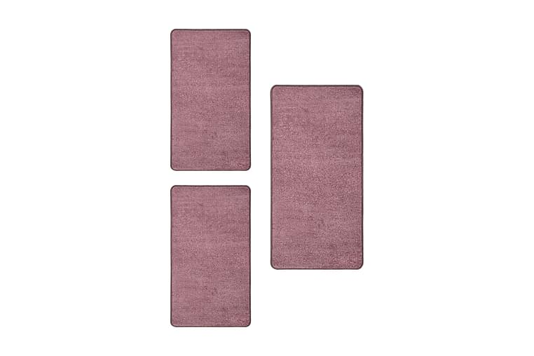 Sovrumsmattor 3 st långhårig lila - Lila - Möbler & Inredning - Mattor - Ryamattor