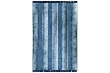 Kelimmatta bomull 120x180 med mönster blå