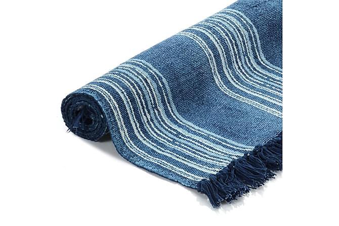Kelimmatta bomull 120x180 med mönster blå - Inomhus - Mattor - Små mattor