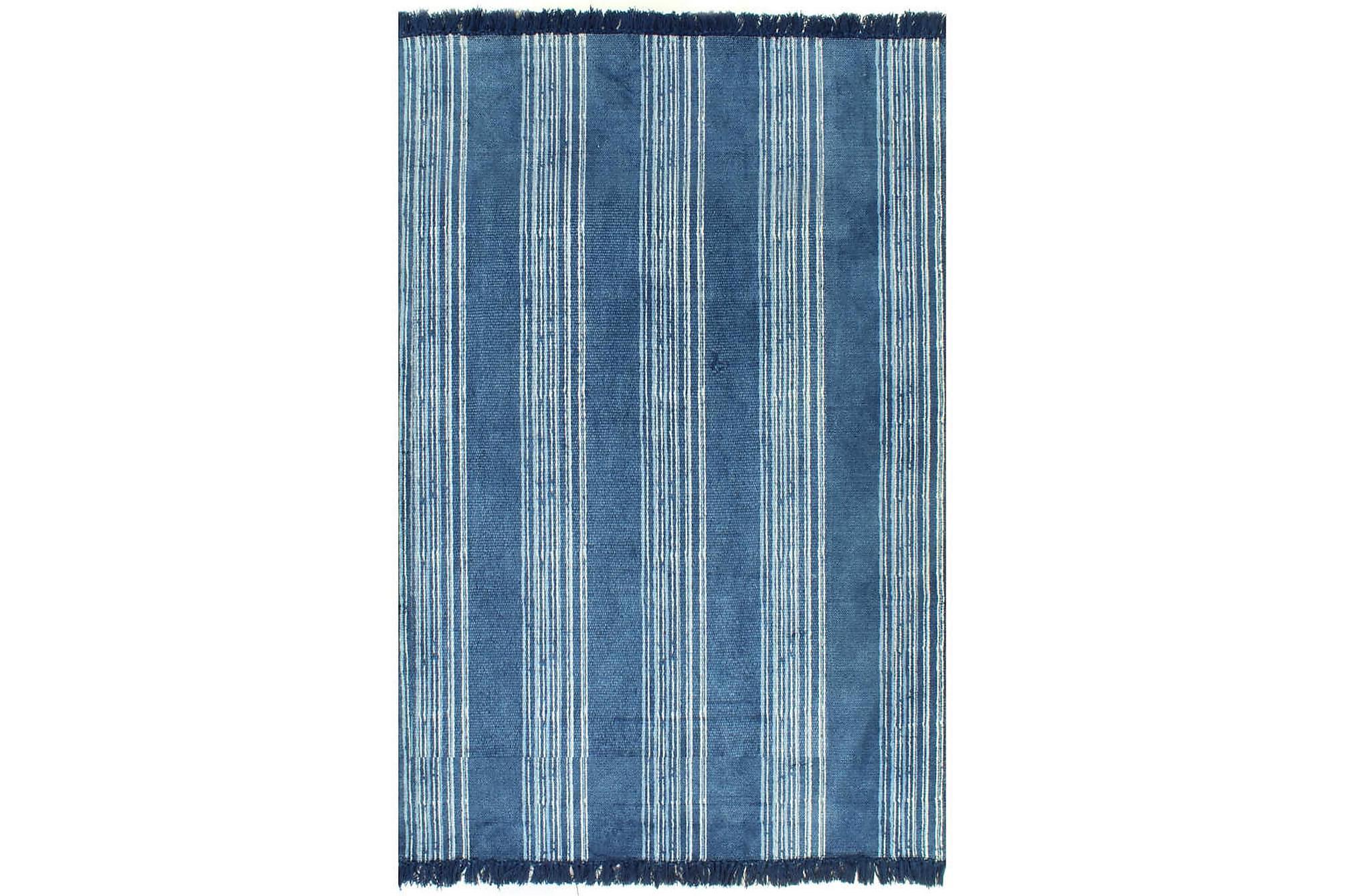 Kelimmatta bomull 120×180 med mönster blå