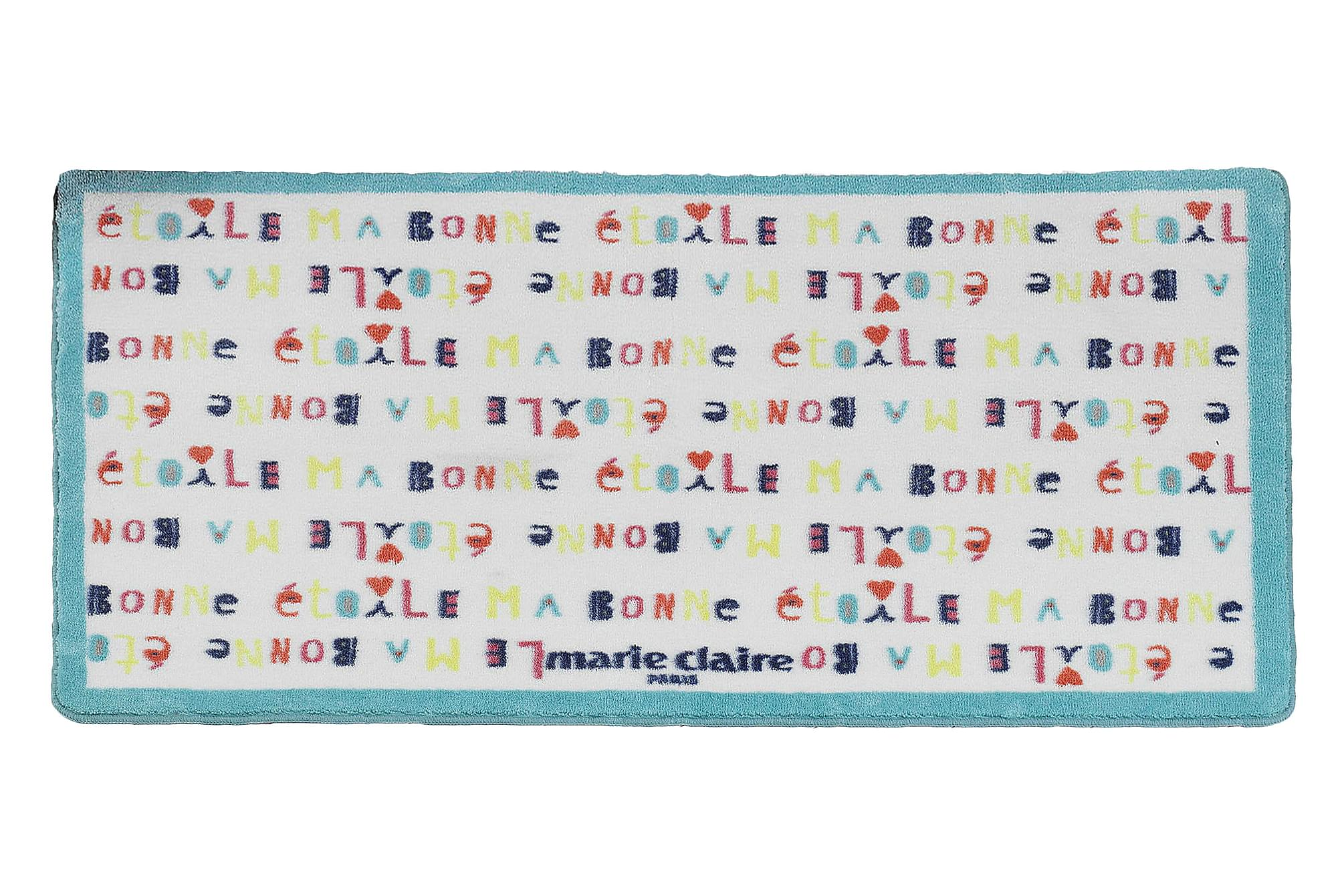 MARIE CLAIRE Matta 100×150 Turkos/Vit/Multi