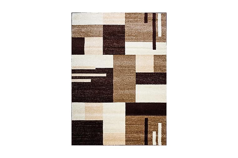 YORK Matta 160x230 Ljusbrun/Mörkbrun - Möbler & Inredning - Mattor - Stora mattor