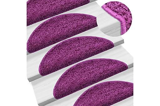 15 st Trappstegsmattor violett 65x25 cm, Trappstegsmattor