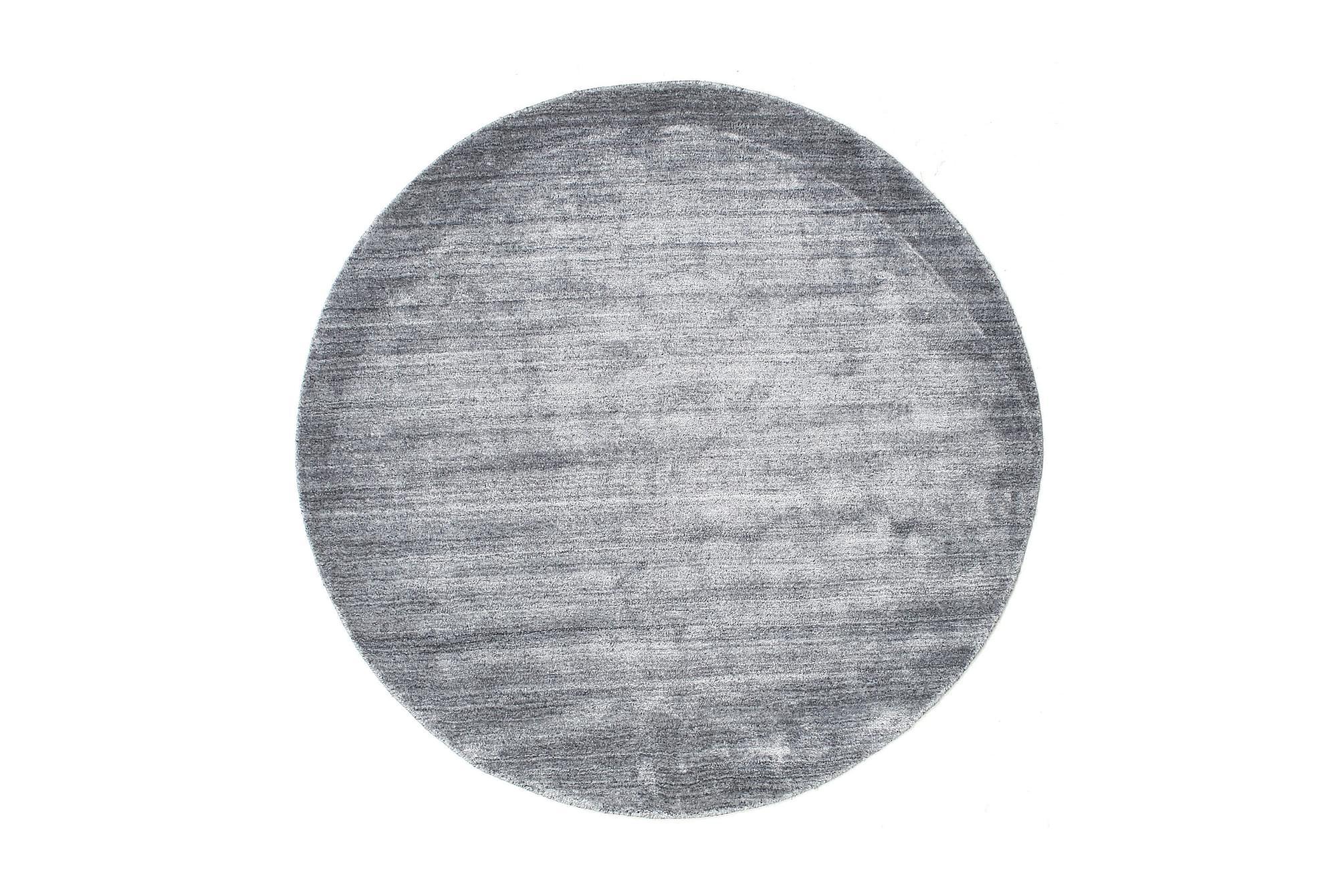 BAMBU Matta 150 Rund Blå, Viskosmattor