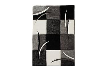 TRELEW Patch Friezematta 133x190 Rutig Svart